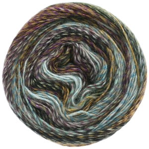 Lana Grossa Gioia - Farbverlaufsgarn mit seidigem Schimmer (Farbe: 001 Silber/Mint/Pink/Mokka/Graugrün/Schwarz)