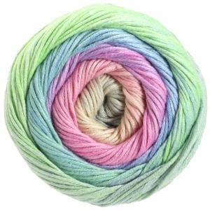 Lana Grossa Gomitolo Aloha - Baumwoll-Viskosegarn mit Farbverlauf (Farbe: 307 Nachtblau/Blauviolett/Zyklam/Bordeaux/Braunorange/Rotbraun/Pink)