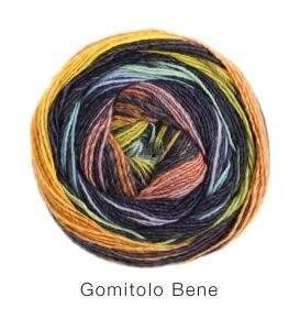 Lana Grossa Gomitolo Bene (Farbe: 758 Dunkelgrau/Bordeaux/Rot/Zyklam)