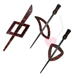 KnitPro Tuchnadel Symfonie Rose - in 8 schönen Formen (Farbe: Electra)