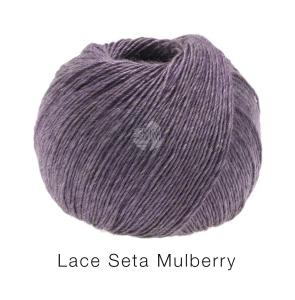 Lana Grossa Lace Seta Mulberry - feines Dochtgarn mit Seide (Farbe: graublau (Fb. 16))