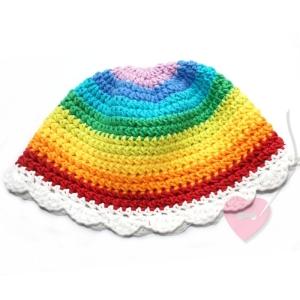 Sommerlicher Baby-Hut Regenbogenfee aus Baumwolle und Kapok