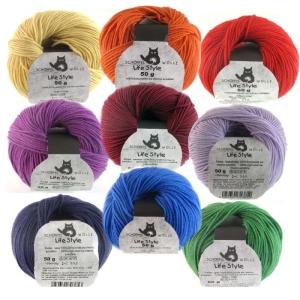 Schoppel Wolle Life Style uni - feine Merinowolle (Farbe: blau)