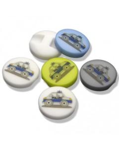 Kunststoffknopf  Polizei 15mm mit Öse (Farbe: weiß)