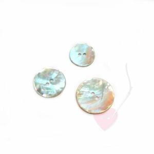 Perlmuttknopf rund, natur (Größe: 20mm)