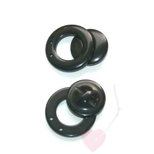 Große Magnetschließe aus Kunststoff (Farbe: schwarz)