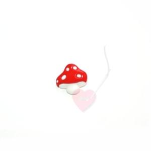 Fliegenpilz-Knopf 18mm mit Öse