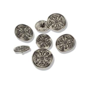 Trachtenknopf altsilber - Metallknopf mit Öse (Größe: 18mm)
