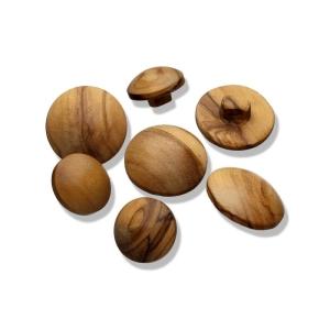 Holzknopf mit Öse glatt, rund (Größe: 15mm)