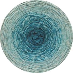 Lana Grossa Twisted Summer Shades - Baumwollgarn mit Farbverlauf (Farbe: 1003 Ecru/Hell-/Dunkelgrau)