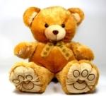 Bär Plüsch Teddybär braun 48 cm Stofftier Kuscheltier Plüschfigur Teddy