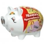 Sparschwein MAMA′S SPARSCHWEIN, Spardose Sparbüchse Keramik Geschenk Geld Mutter