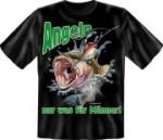 T-Shirt Angeln Männer Fun Shirt Sprüche Angler Fisch Angelgott (Größe:: S (42/44))