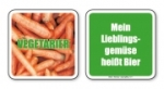 witzige Bierdeckel mit Spruch: Vegetarier... 8 Stück, Untersetzer aus Vollpappe bedruckt mit Fun - Spruch