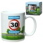 Tasse 30 Jahre Kaffebecher 30 Geburtstag Verkehrsschild
