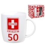 Tasse Medizin ab 50  Kaffebecher 50 Jahre Geburtstag Erste Hilfe