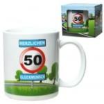 Tasse 50 Jahre Kaffebecher 50 Geburtstag Verkehrsschild