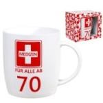 Tasse Medizin ab 70  Kaffebecher 70 Jahre Geburtstag Erste Hilfe