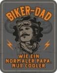 Blechschild BIKER DAD Papa Vater Spruch Schild Blech Motorrad