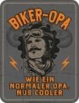 Blechschild BIKER OPA Großvater Spruch Schild Blech Motorrad