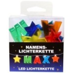 LED Namens-Lichterkette MAX  Lichterkette Name Deko innen