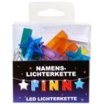 LED Namens-Lichterkette FINN Lichterkette Name Deko innen