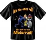 Fun Shirt Ü 40, helft mir auf′s Motorrad T-Shirt Spruch (Größe:: XXL (56))