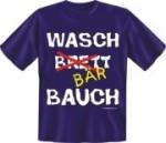 Fun Shirt WASCH BRETT BÄR BAUCH dick T-Shirt Spruch (Größe:: XL (52/54))