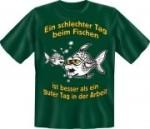 T-Shirt Angeln schlechter Tag Fischen Angler Fun Shirt (Größe:: S (42/44))