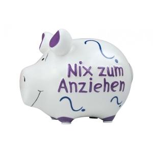 Sparschwein Nix zum Anziehen Spardose Geld Geschenk