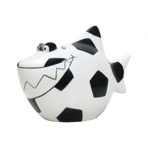 Sparschwein Fußball Hai Spardose Sparbüchse Fussball