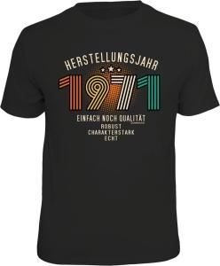 T-Shirt zum 50. Geburtstag HERSTELLUNGSJAHR 1971 (Größe:: M (46/48))