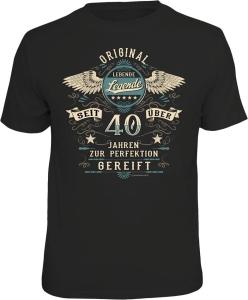 T-Shirt LEBENDE LEGENDE seit über 40 Jahren (Größe:: XL (52/54))