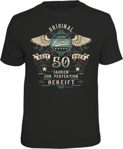 T-Shirt LEBENDE LEGENDE seit über 50 Jahren (Größe:: L (50/52))