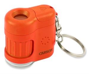 Carson MM-280 Mini Mikroskop mit Schlüsselanhänger orange