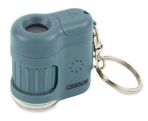 Carson MM-280 Mini Mikroskop mit Schlüsselanhänger blau
