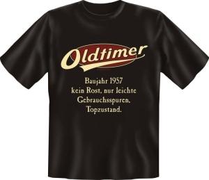 T-Shirt Oldtimer Baujahr 1957 Geburtsjahr Geburtstag Jahrgang Shirt Geschenk (Größe:: M (46/48))