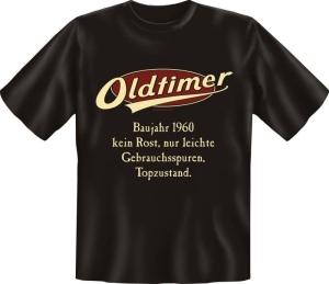 T-Shirt Oldtimer Baujahr 1960 Geburtsjahr Geburtstag Jahrgang Shirt Geschenk (Größe:: M (46/48))