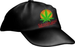 Caps Fun Ich rauche gern!, Basecap bestickt schwarz, größenverstellbar Base Cap