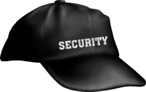 Caps Fun SECURITY, Bassecap Cap bestickt schwarz, größenverstellbar