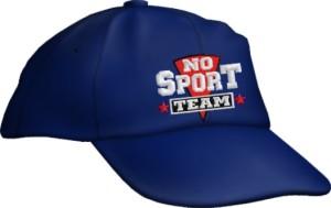 Caps Fun NO SPORT TEAM, Basecap Cap bestickt blau, größenverstellbar