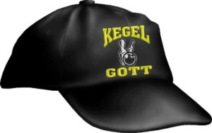 Caps Fun KEGELGOTT, Basecap Cap bestickt schwarz