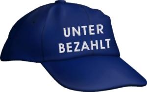 Caps Fun UNTER BEZAHLT, Basecap Cap bestickt blau, größenverstellbar