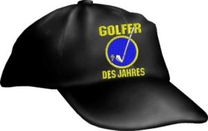 Caps Fun GOLFER DES JAHRES, Cap bestickt schwarz, größenverstellbar