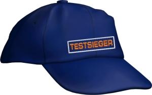 Caps Fun TESTSIEGER, Basecap Cap bestickt blau, größenverstellbar