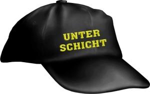 Caps Fun UNTERSCHICHT, Basecap Cap bestickt schwarz, größenverstellbar