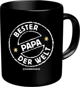 Tasse mit Fun Spruch: BESTER PAPA DER WELT witzige Kaffeetasse