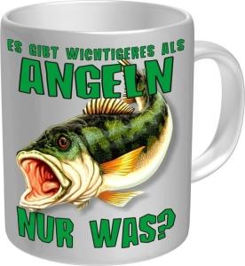Tasse WICHTIGERES ALS ANGELN Kaffeetasse  Becher Kaffeepott