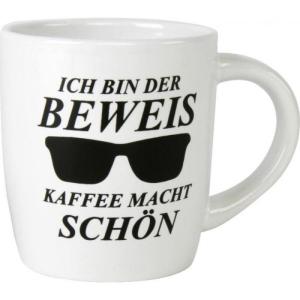 Kaffeebecher Beweis Kaffee macht schön Tasse Geschenk