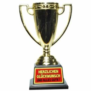 Pokal / Auszeichnung Herzlichen Glückwunsch! Geschenkidee zum Geburtstag